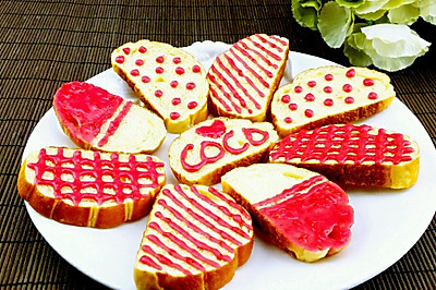 【蔓德拉的厨房】覆盆子果酱糖霜面包脆