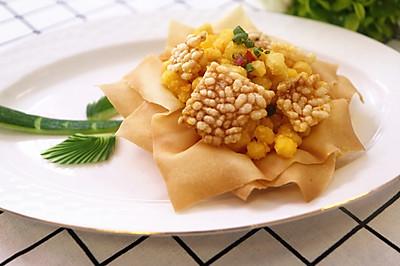 钛美厨房 | 【锅巴焗玉米】咸咸脆脆,既可当冷菜又能做零食