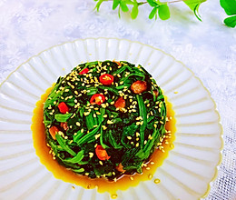 凉拌菠菜的做法