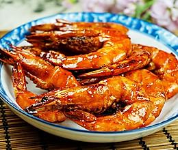 黑椒蒜子大虾的做法