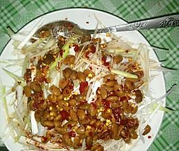 大葱拌水豆豉的做法