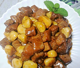 黑蒜子牛肉粒的做法