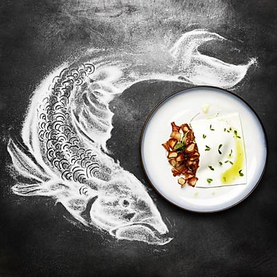 烟熏鲭鱼 配 酸奶冻沙拉