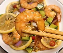 低脂低卡高蛋白,不加一滴油的【柠檬酸辣虾】,好吃到舔盘~的做法