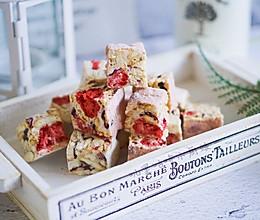 草莓味雪花酥#一道菜表白豆果美食#的做法