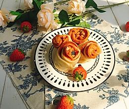 #豆果10周年生日快乐#玫瑰花香肠卷的做法