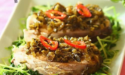 雪菜蒸鲩鱼的做法