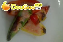 海鲜酿彩椒的做法