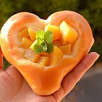 超软爱心黄桃面包(波兰种)的做法图解20