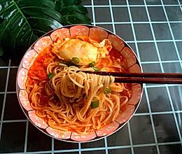 感恩节:暖心热汤面之西红柿鸡蛋面的做法