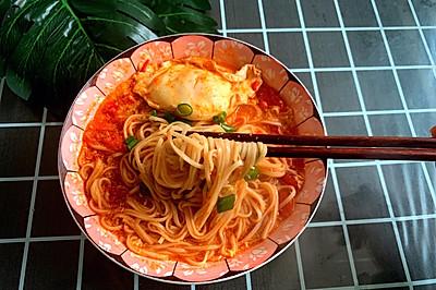 感恩节:暖心热汤面之西红柿鸡蛋面