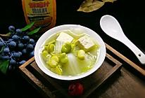 蚕豆鸡汁豆腐煲#太太乐鲜鸡汁蒸鸡原汤#的做法