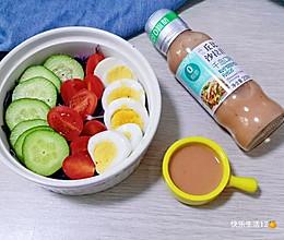 紫甘兰轻脂蔬菜沙拉的做法
