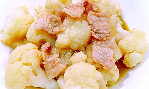 花菜炒肉片的做法
