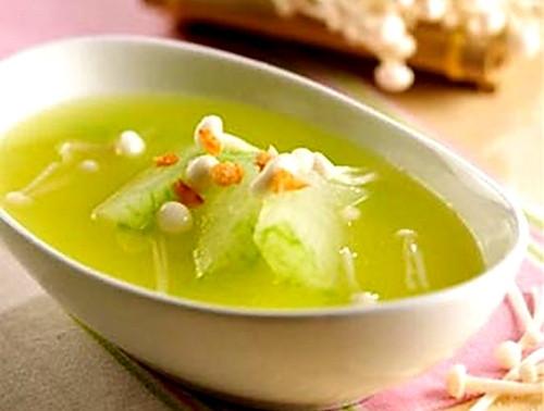 冬瓜金针菇汤的做法