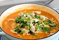 番茄酸汤鱼片,酸甜可口且易学 | 北鼎珐琅铸铁锅的做法