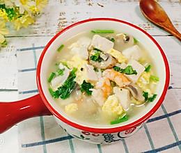 低脂美味的虾仁豆腐菌菇汤的做法