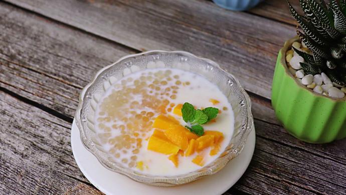 椰汁芒果西米露(甜品)