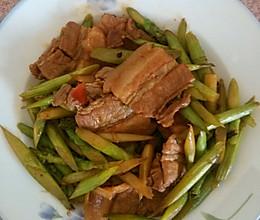 辣炒五花肉芦笋的做法