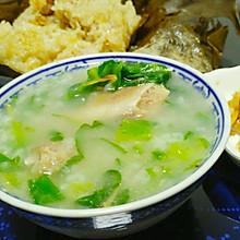 咸骨芥菜粥