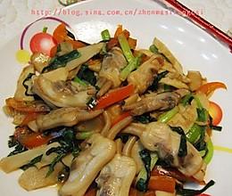 韭菜春笋炒蛏子的做法