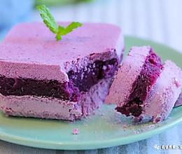 紫薯松糕 宝宝辅食食谱的做法