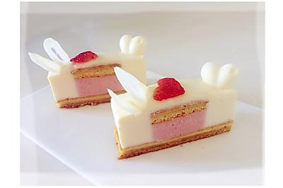 草莓白巧克力慕斯