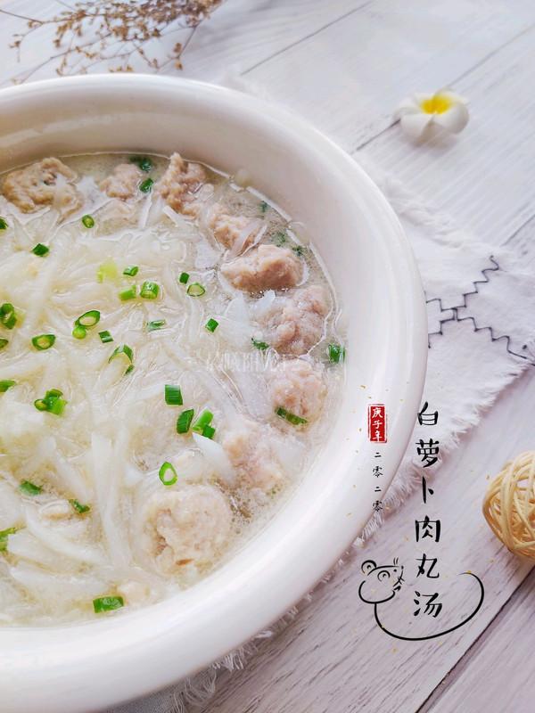 白萝卜肉丸鲜汤的做法