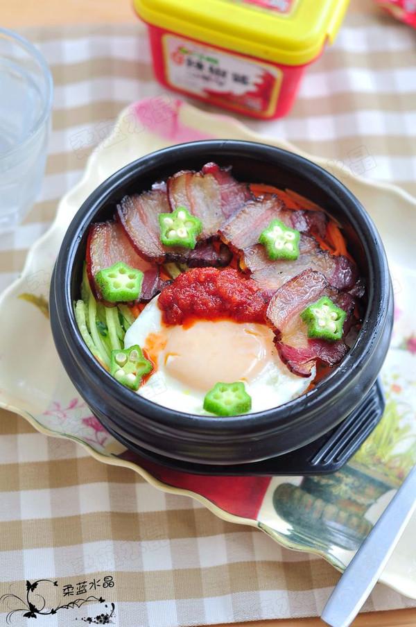 腊肉石锅拌饭的做法