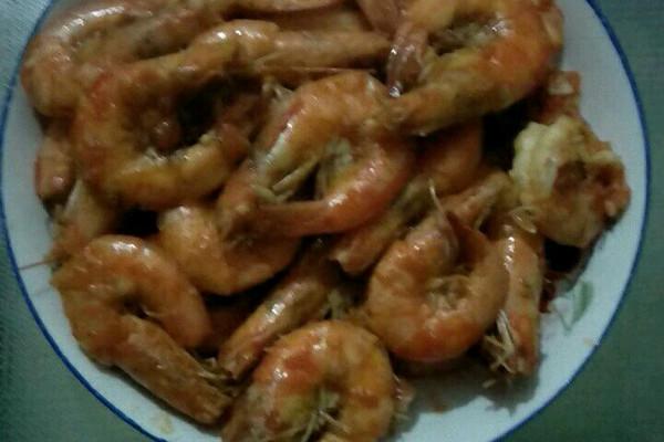 油焖加茄汁融合做法大虾的做法