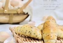 """#2021亲子烘焙组——""""焙""""感幸福#黑芝麻盐面包的做法"""