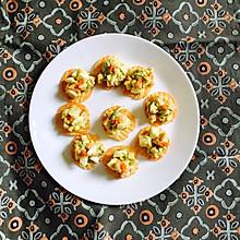 鸡蛋牛油果木瓜脆沙拉