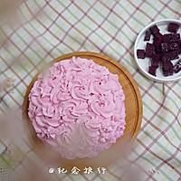 粉紫色的恋人--红心火龙果奶油蛋糕的做法图解10