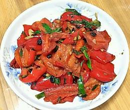 油淋红椒的做法