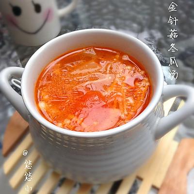 番茄金针菇冬瓜汤