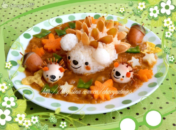 小刺猬咖喱饭的做法