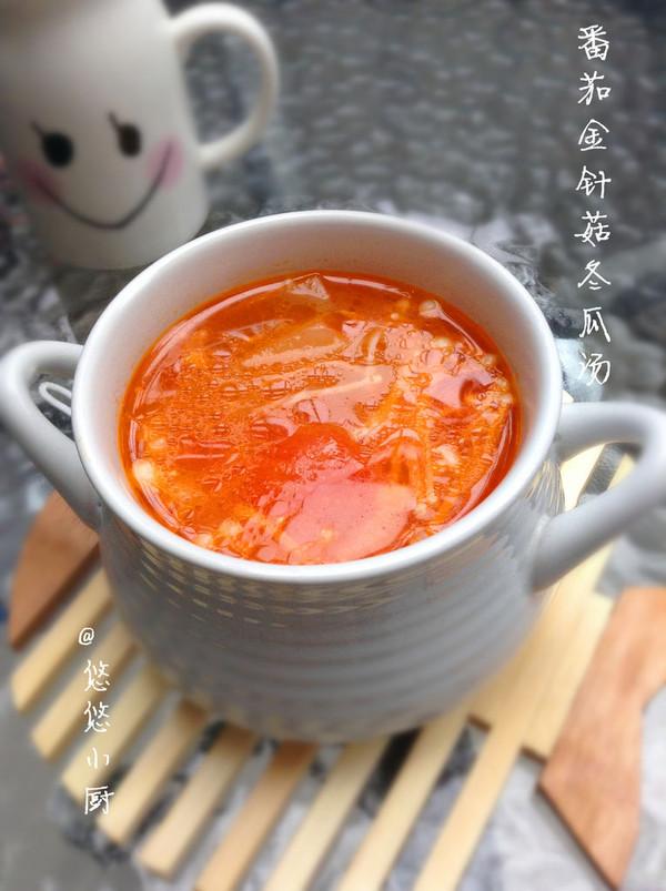 番茄金针菇冬瓜汤的做法