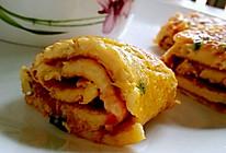 番茄鸡蛋卷饼 ——宝宝的早餐的做法