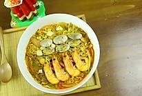 韩式辣海鲜面的做法