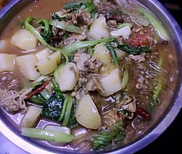 小白菜猪肉炖粉条的做法