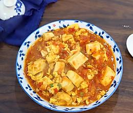 #一起加油,我要做A➕健康宝贝#番茄豆腐的做法