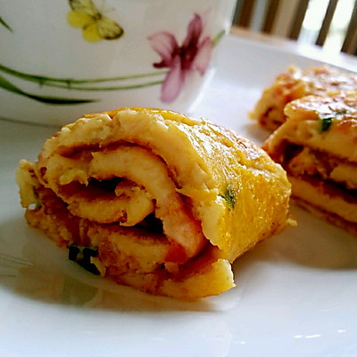 番茄鸡蛋卷饼 ——宝宝的早餐