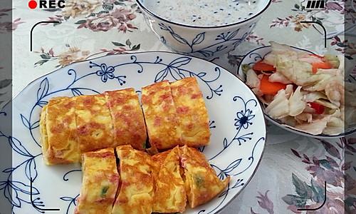 黄金早餐——芝士厚蛋烧的做法