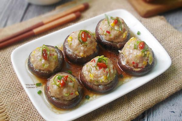 香菇酿肉丸  #元气挑战美一天#的做法