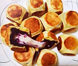 网红糕点紫薯+马苏里拉奶酪的做法