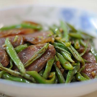 刀豆炒香肠