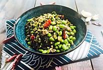 雪菜毛豆炒肉沫的做法