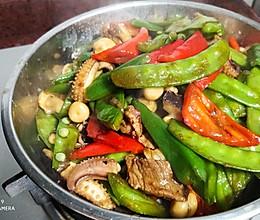 青红椒炒八爪鱼的做法