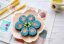 花朵寿司【蓝色系】的做法