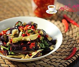 剁椒香菜拌茄条的做法